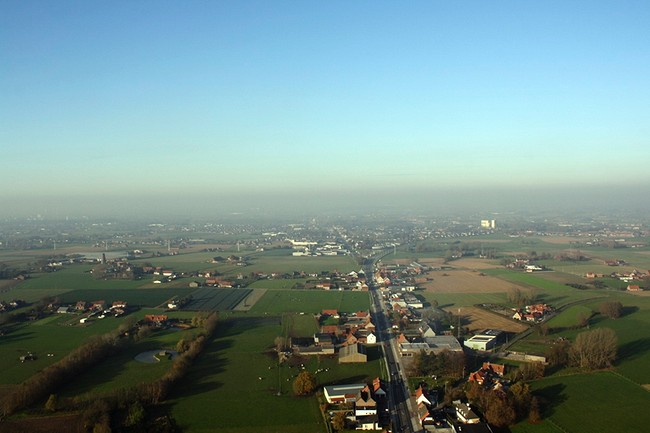 hot air balloon ride in Bruges, Belgium